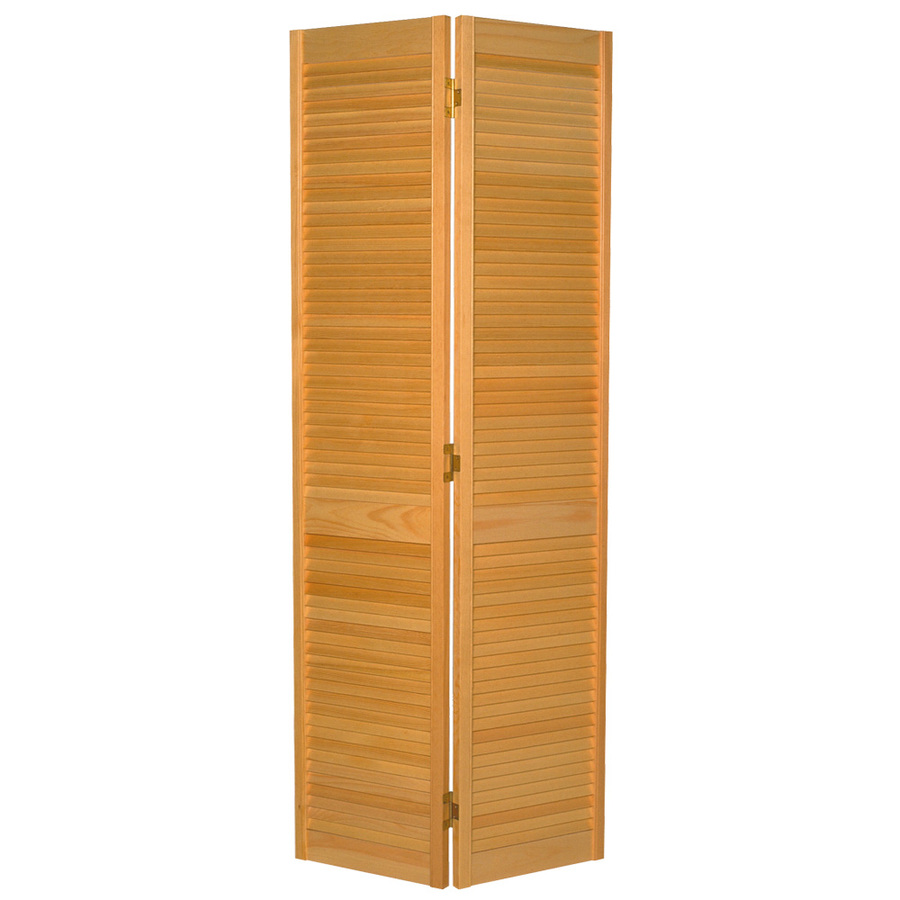 Shop Reliabilt Louvered Solid Core Pine Bifold Closet Door