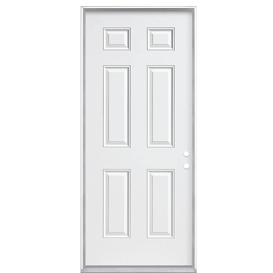 Phenomenal Shop Reliabilt Fire Resistant 6 Panel Prehung Inswing Steel Entry Door Common 30 In X 80 In Door Handles Collection Olytizonderlifede