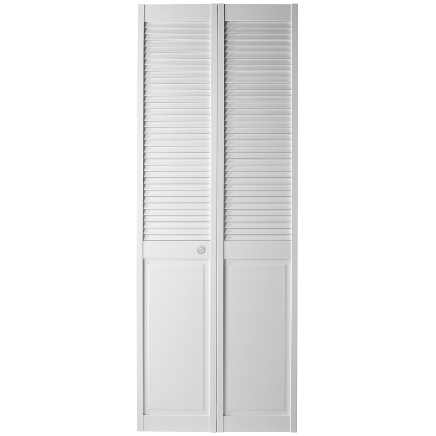 Shop Reliabilt Louver Panel Solid Core Pine Bifold Closet