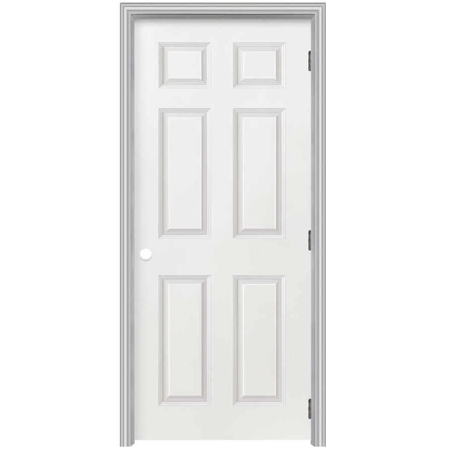 Shop reliabilt 22 x 80 6 panel hollow composite left - Single panel prehung interior doors ...