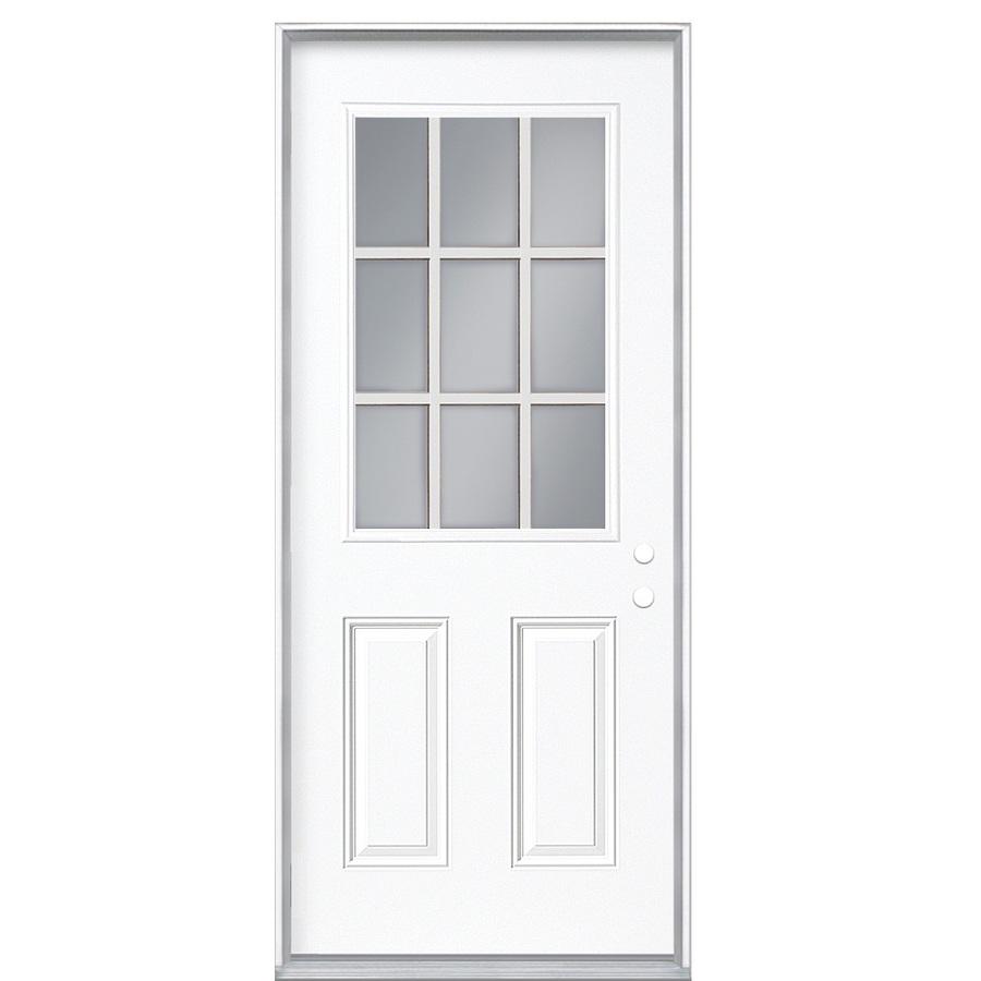 Lowes Exterior Doors: Shop ReliaBilt 9-Lite Prehung Inswing Steel Entry Door