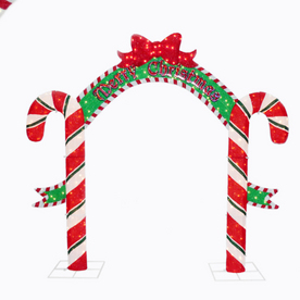 Lowe S 8 Candy Cane Arch Outdoor Holiday Decoration