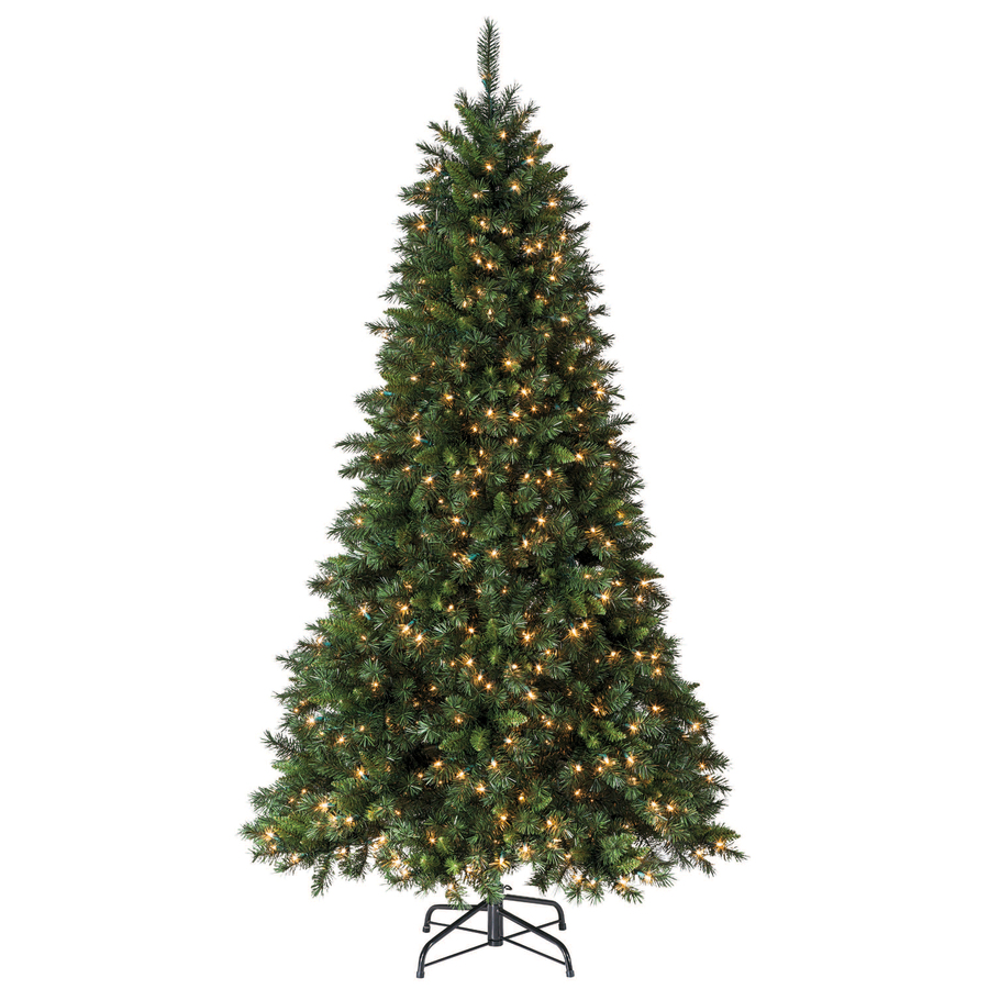 Living Christmas Trees For Sale: Shop Holiday Living 7.5-ft Pine Pre-Lit Artificial