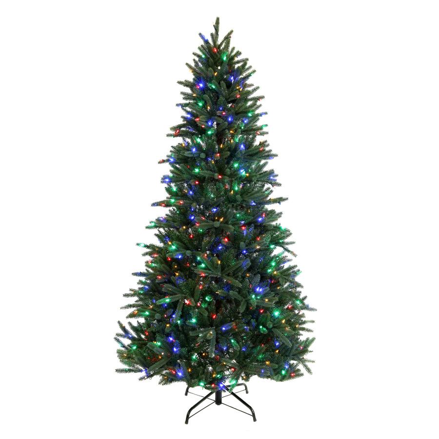 Shop Holiday Living 7.5-ft Pre-Lit Pine Artificial ...