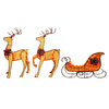 Holiday Living Pre Lit Reindeer Constant White Incandescent Lights Deals