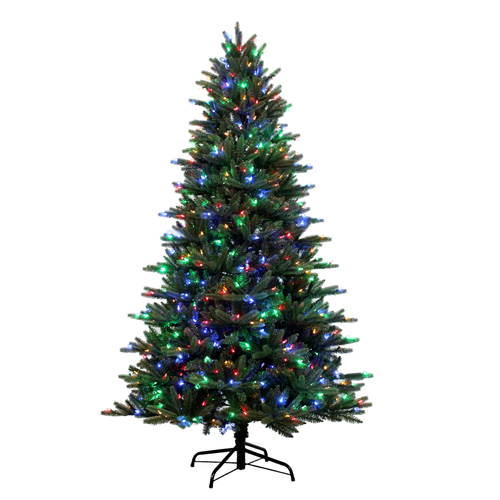 Real Christmas Trees Lowes: Holiday Living 7.5-ft Pre-Lit Englewood Pine Artificial