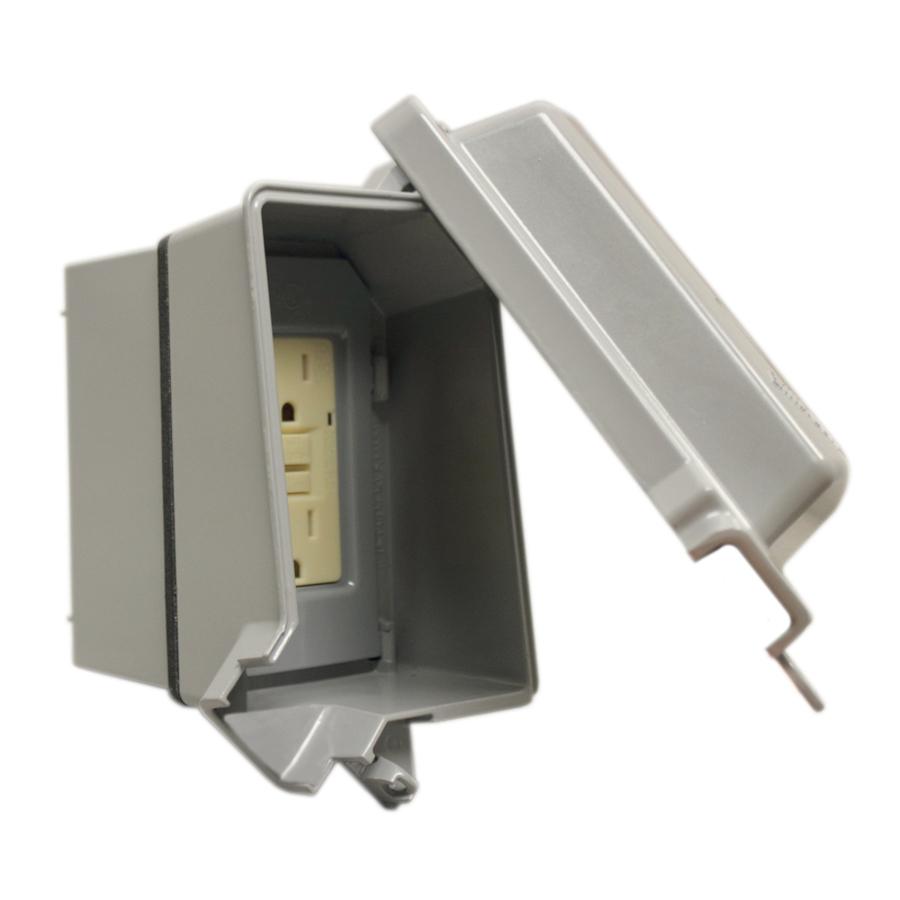 Shop Gampak 1 Gang Rectangle Metal Electrical Box Cover At