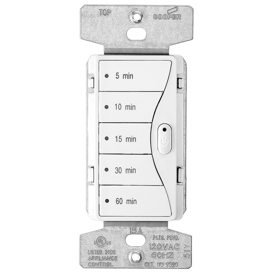 shop cooper wiring devices 15 amp white decorator light. Black Bedroom Furniture Sets. Home Design Ideas