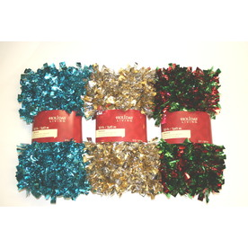 Holiday Living 3-in x 12-ft Tinsel Artificial Christmas Garland BOA-LP