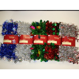 Holiday Living 1.5-in x 12-ft Tinsel Artificial Christmas Garland 61-LP
