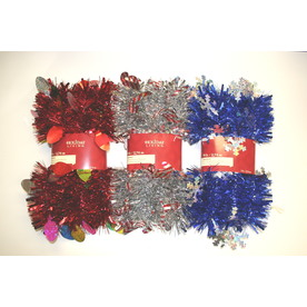 Holiday Living 4-in x 9-ft Tinsel Artificial Christmas Garland 66J-LP