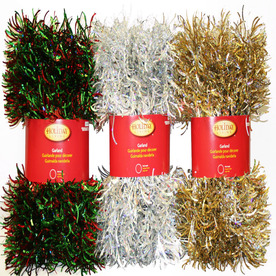 Holiday Living 6-in x 12-ft Tinsel Artificial Christmas Garland WV-LP