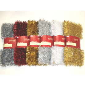 Holiday Living 1.5-in x 20-ft Tinsel Artificial Christmas Garland 222-LP