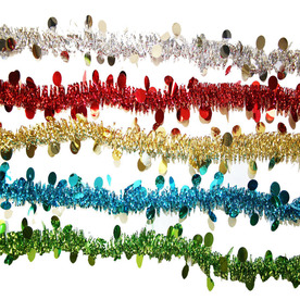 Holiday Living 1.5-in x 8-ft Tinsel Artificial Christmas Garland PKG-LOW