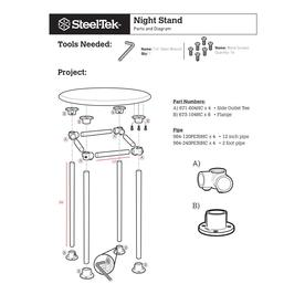 Steel Tek 679-804HC 3//4 x 3//4 BK Products Galvanized Steel Flange