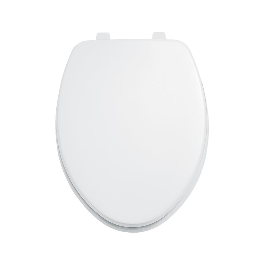 Shop American Standard Laurel White Wood Elongated Toilet