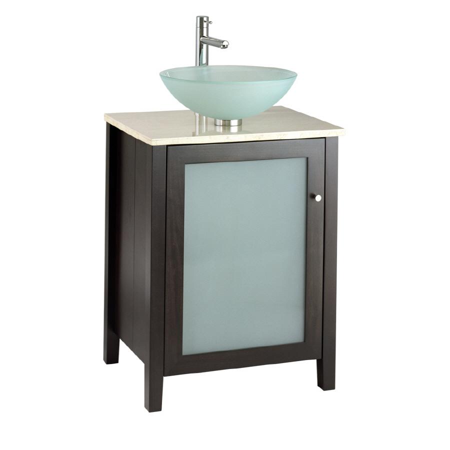 Shop american standard cardiff 24 in x 20 in espresso - American standard bathroom cabinets ...