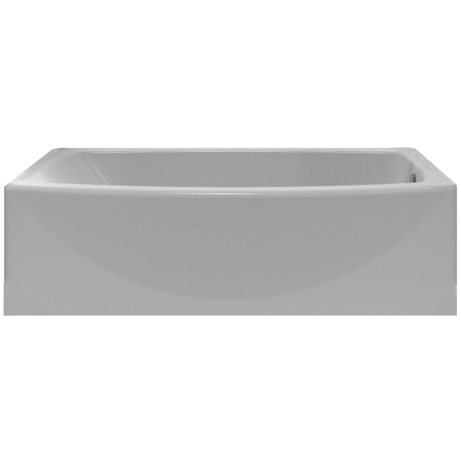 Shop American Standard Saver 60-in White Acrylic Rectangular Right ...