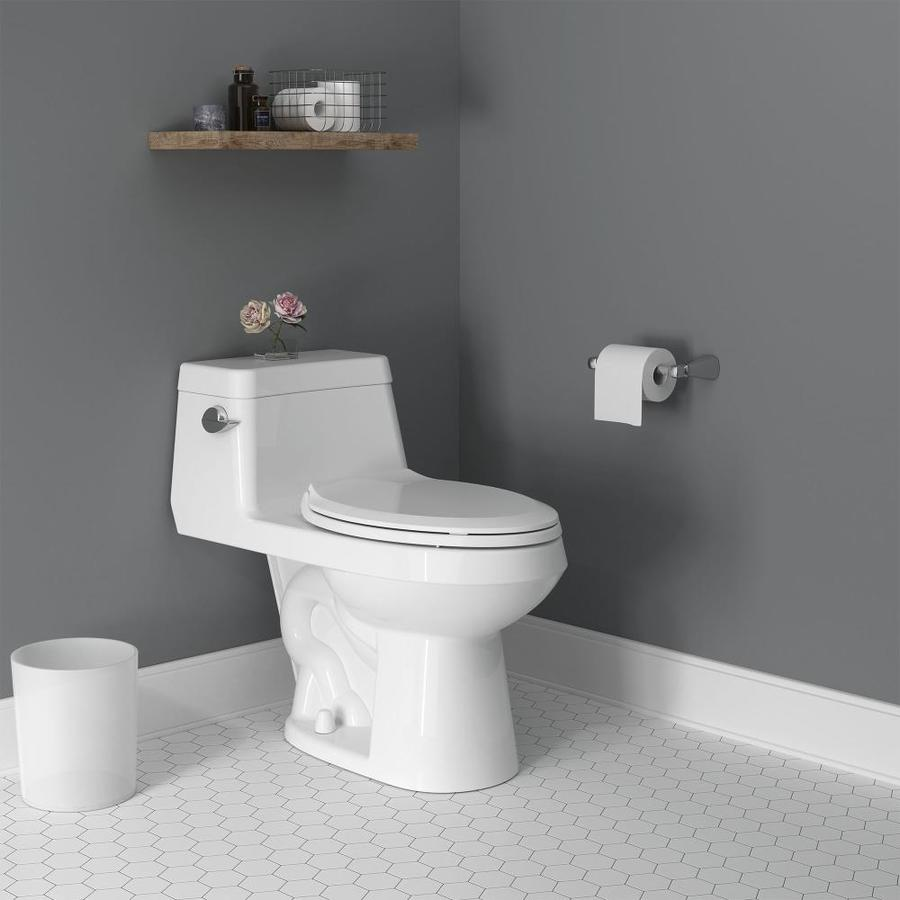 American Standard Colony White Watersense Elongated Chair Height Toilet 12 In Rough In Size Ada Compliant In The Toilets Department At Lowes Com