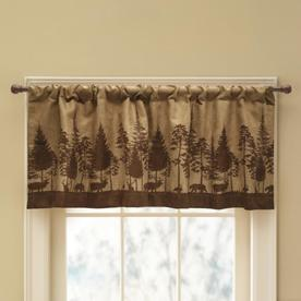display product reviews for woodland scenic 19 in brown polyester rod pocket valance - Styles Of Valances