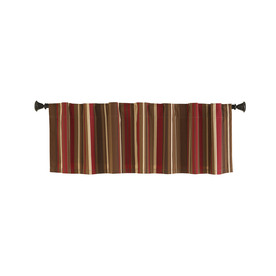 Display Product Reviews For Bernard 15 In Red Multicolor Polyester Back Tab Valance