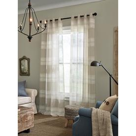 Display Product Reviews For Palma 84 In Tan Polyester Grommet Semi Sheer Single Curtain