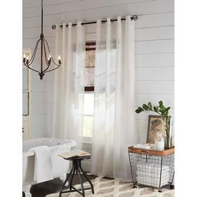 Display Product Reviews For Palma 84 In White Polyester Grommet Semi Sheer Single Curtain
