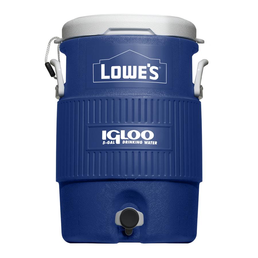 Shop Igloo 5 Gallon Blue Poly Beverage Dispenser At Lowes Com