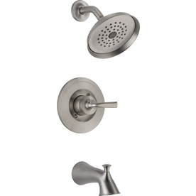 Shop Delta Lorain Stainless 1 Handle Bathtub And Shower