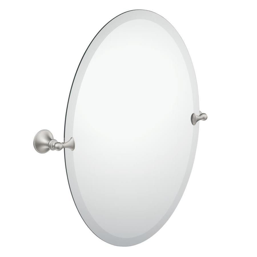 Moen Glenshire 22.81-In Brushed Nickel Oval Frameless Bathroom Mirror Dn2692bn