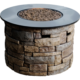 Bond Canyon Ridge 36.6-in W 50,000-BTU Brown Composite Liquid Propane Fire Column 67385