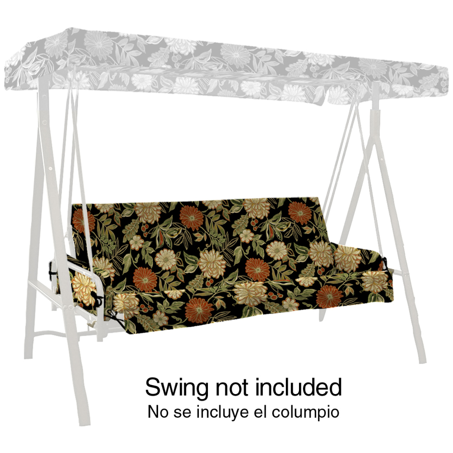 Shop Arden Outdoor Floral Black Swing Cushion With