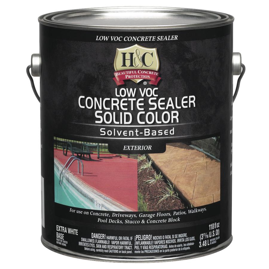 Shop H Amp C Gallon White Solvent Based Concrete Sealer At