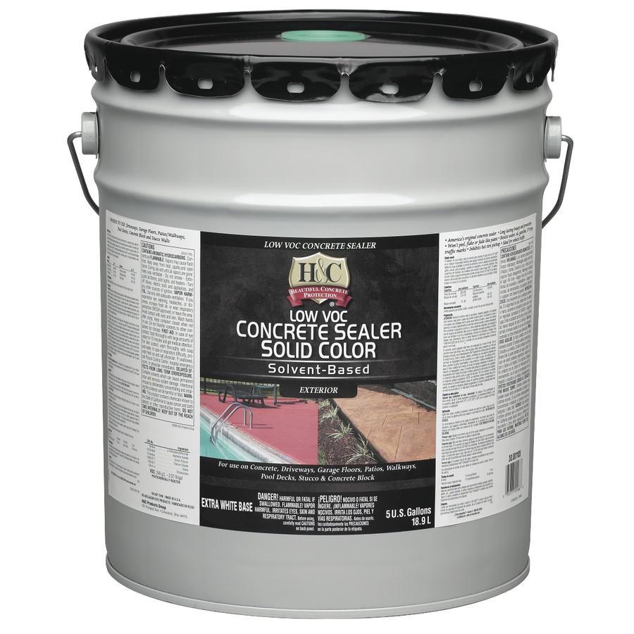 Shop H Amp C 5 Gallon Solvent Based Concrete Sealer At Lowes Com