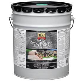Shop H Amp C 5 Gallon Clear Gloss Solvent Based Concrete