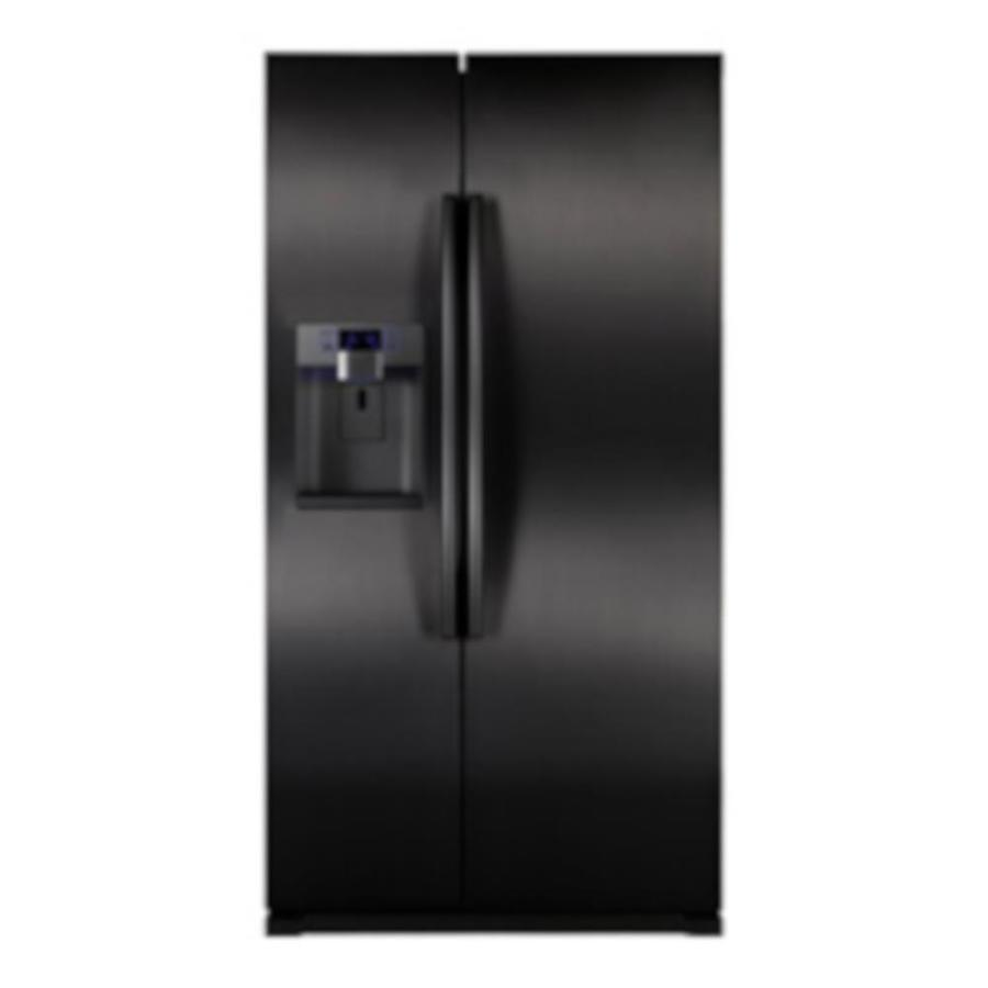 shop samsung 24 1 cu ft counter depth side by side refrigerator with single ice maker black. Black Bedroom Furniture Sets. Home Design Ideas