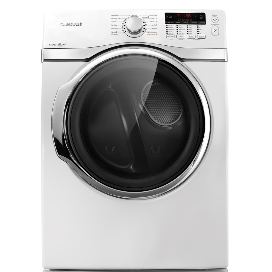 Shop Samsung 7 4 Cu Ft Electric Dryer With Steam Cycles