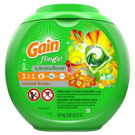 Gain Flings 72 Count Island Fresh He Capsules Laundry Detergent 3700075054