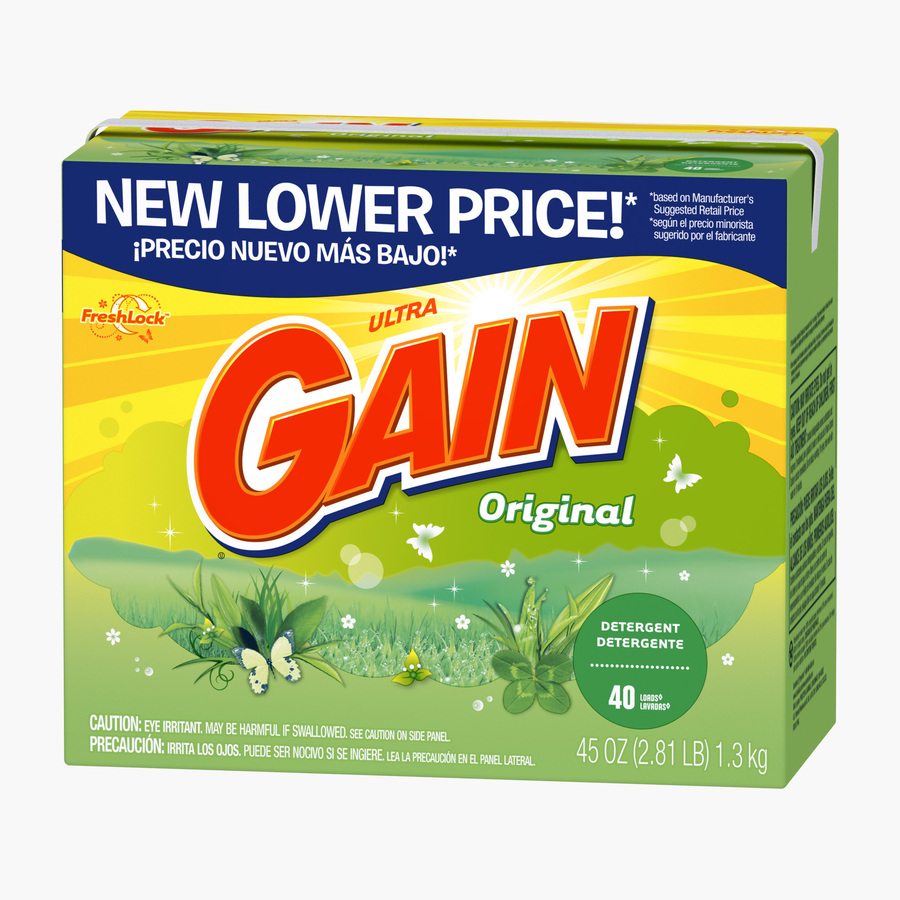 Shop Gain Powder 45 Oz Original Laundry Detergent At Lowes Com