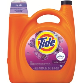 Tide Plus Febreze Freshness Spring and Renewal Scent Liquid Laundry Detergent, 138 Oz, 89 Loads, 4.613 Pound