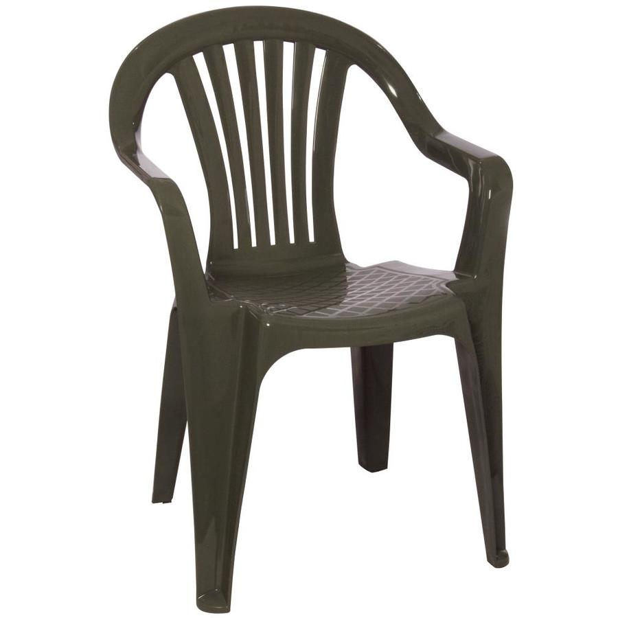 Shop Adams Mfg Corp Earth Slat Seat Resin Stackable Patio