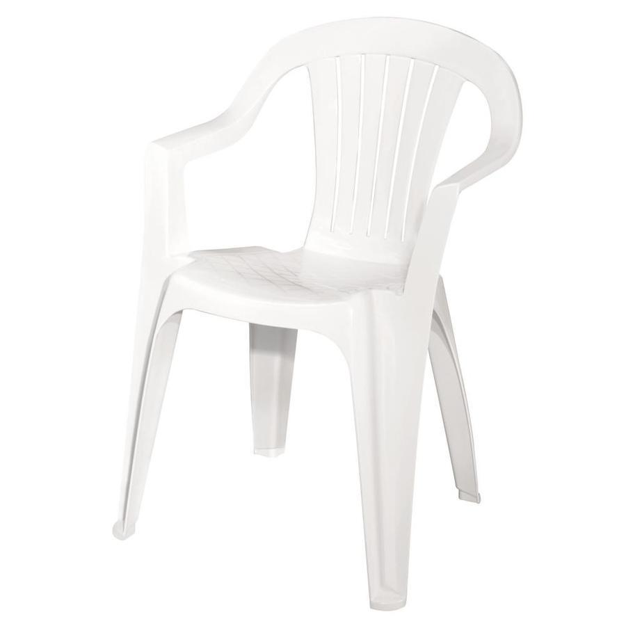 Shop Adams Mfg Corp White Slat Seat Resin Stackable Patio