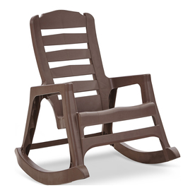 Display Product Reviews For Earth Brown Resin Stackable Patio Rocking Chair