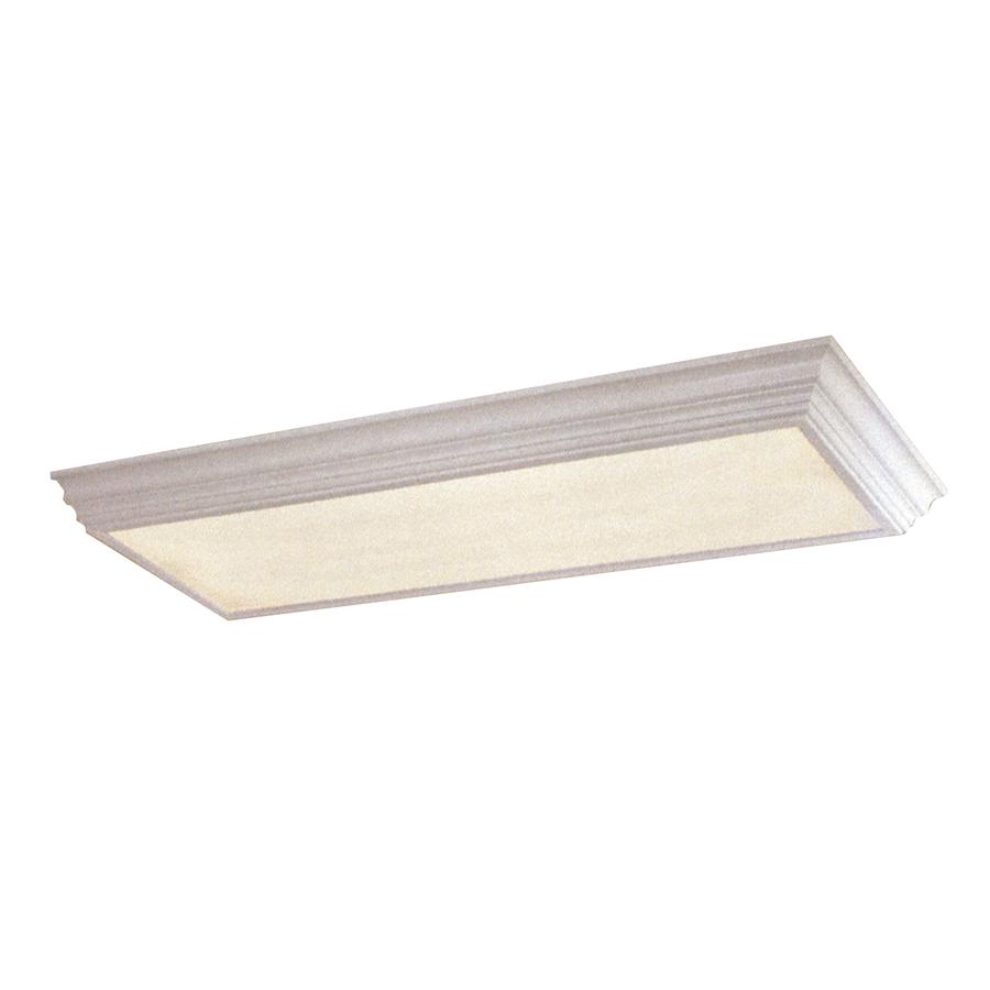 Shop Portfolio White Flush Mount Fluorescent Light ENERGY