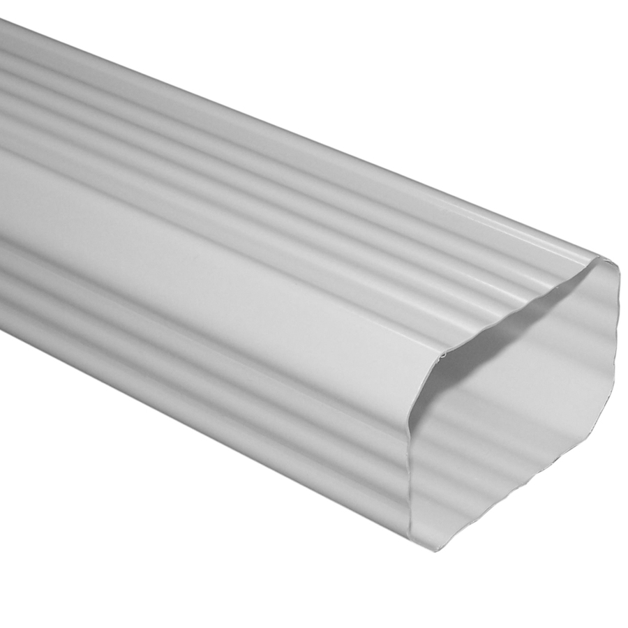 Shop Severe Weather 120 In White Vinyl Downspout At Lowes Com