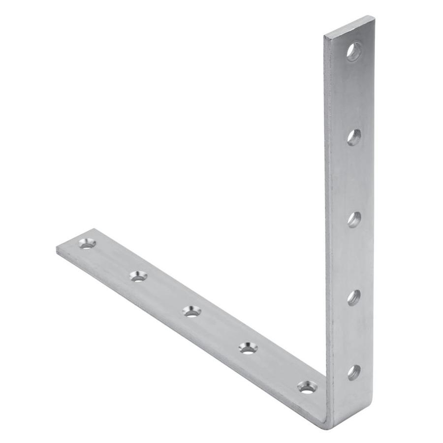National Hardware 10 In X 1 1 4 In Corner Brace In Zinc 10 In X 0 5 In X 10 In Steel Chair Brace In The Angles Brackets Braces Department At Lowes Com