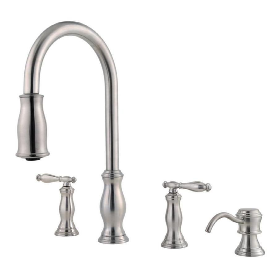 Kitchen Pull Down Faucet: Shop Pfister Hanover Stainless Steel 2-Handle Pull-Down