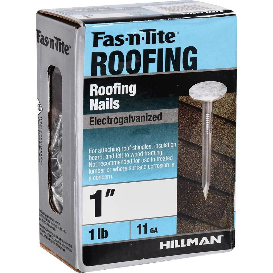 Fas N Tite 1 In 11 Gauge Electro Galvanized Roofing Nails 1 Lb In The Roofing Nails Department At Lowes Com