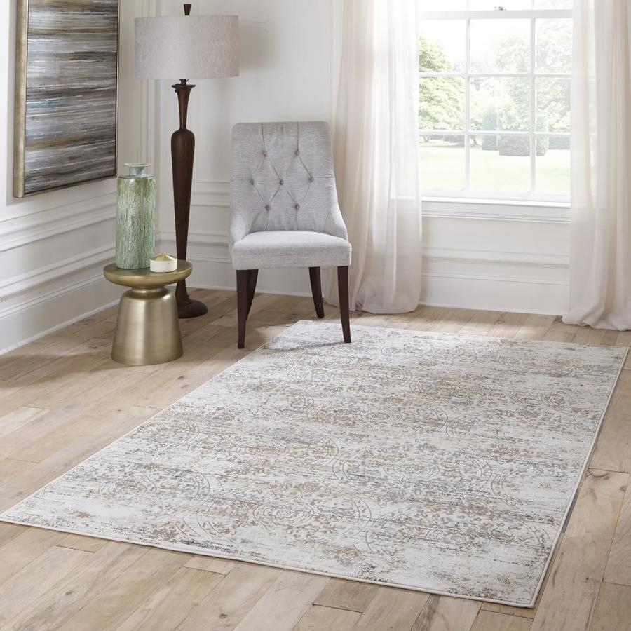Momeni Juliet 2 X 3 Ivory Indoor Distressed Overdyed Vintage Area Rug In The Rugs Department At Lowes Com