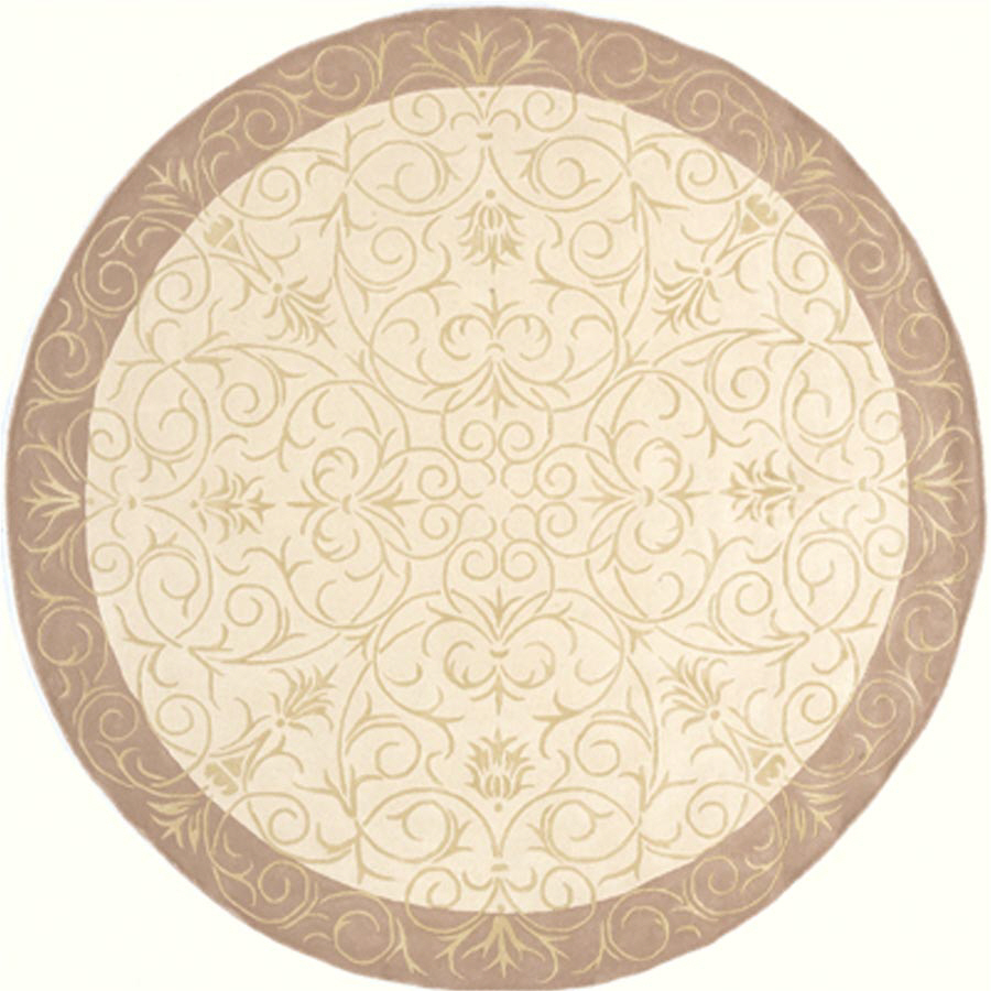 Shop Momeni 7 Ft 9 In Round Beige Gabby Area Rug At Lowes Com